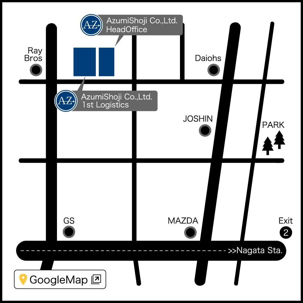 地図 : 本社